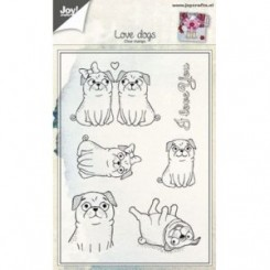 Love Dogs clear stamps set, JOY