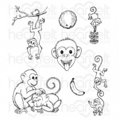 Monkey Antics stempel, Heartfelt C