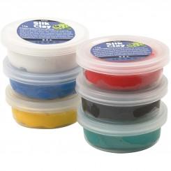 Silk Clay 6x14 g Basic farver