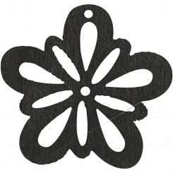 Blomster træ sort 20 stk