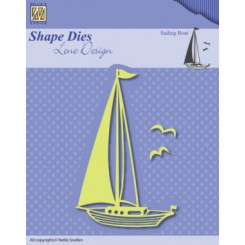Sailing Boat dies, NS, Lene Design