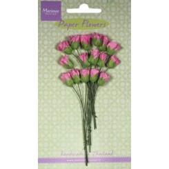 Pink blomster små roser 15 stk