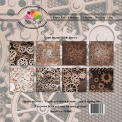 Gears Background Brown paper Pad