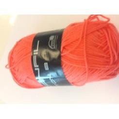 Bomuldsgarn orange-rød fv. 065