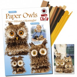 Paper owls 3D quilling kit