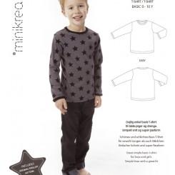 Mini krea T-shirt 0-10 år, Mønster
