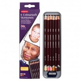 Derwent blyanter i 6 Hudfarver