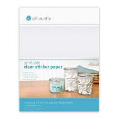 Printable clear sticker paper Silhouette