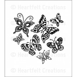 Butterfly Medley cling stamp set