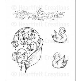 Romantique Swans stempel sæt