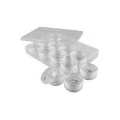Akryldåser 12 stk i æske, 47mm x x 37 mm