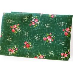 Grøn blomst Patchwork 50 x 55 cm