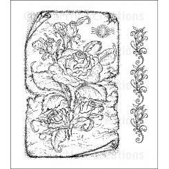 Classic rose set stempel
