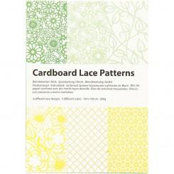Blonde karton A6 , 24 ark Grøn / gul