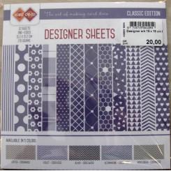 Designer ark 15 x 15 cm Blå nuance