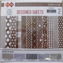 Designer ark 15 x 15 cm Brune nuanc