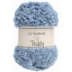 Teddy garn Jeans Blue