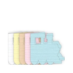 Lokumotiv kort 5 farver x 15 stk