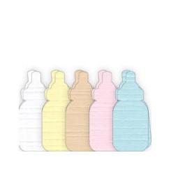 Sutteflaske kort 5 farver x 15