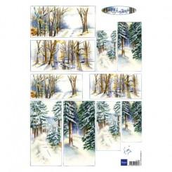 Vinter sene 3-D ark