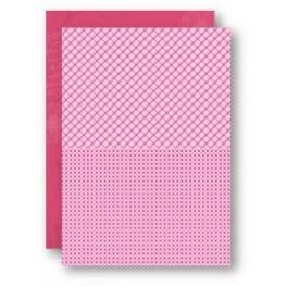 basispapir baby pink, 5 ark x A4