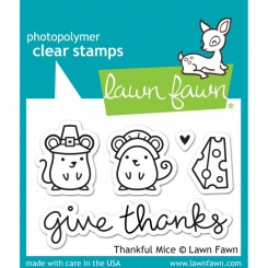 Lawn fawn stempel, Thankful Mice
