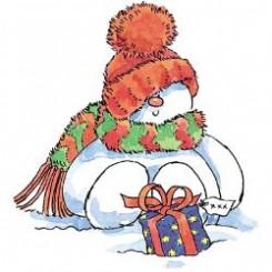 Penny Black Sweet snowman, gummi