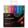 Uni Posca sæt PC1-8 stk plain color