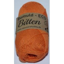 Bitten øko bomuld fv. 1 Orange