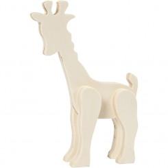 Dyrefigur Giraf 3D, decorer selv