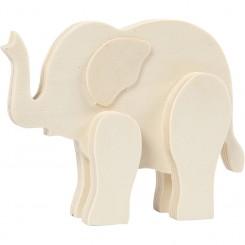 Dyrefigur Elefant 3D, decorer selv