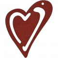 10 stk hjerter Vinrød