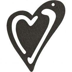10 stk hjerter sort