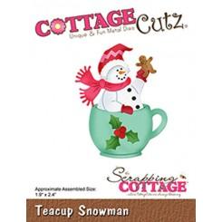 Teacup snowman dies CottageCutz