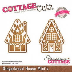 Gingerbread house dies CottageCutz