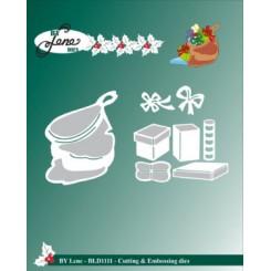 Jule sæk med gaver dies , By Lene