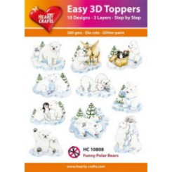 10 designs 3D toppers, Hearty Craft