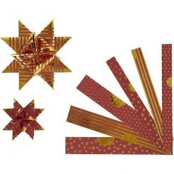Stjernestrimler 2 str. Rød-Guld