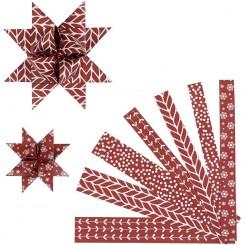 Stjernestrimler Rød / hvid, Vivi G