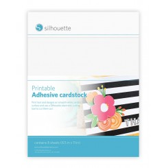 Printable adhesive cardstock . Silhouette