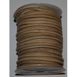 Læder snørre 5 mm x 1 m, natur