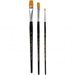 Goldline pensel sæt flade 2,8,12