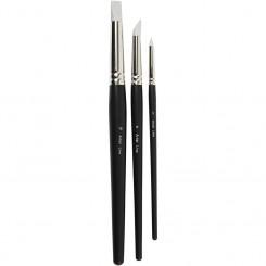 Artistline pensler 2-6-10 mm gummi