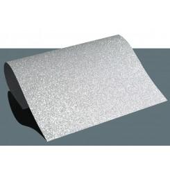 Heat vinyl glitter Sølv A4