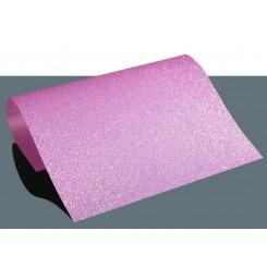 Heat vinyl glitter Lyserød A4