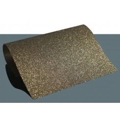Heat vinyl glitter Mørk Guld A4