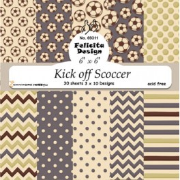 Kick off Scoccer paper blok 15 x 15