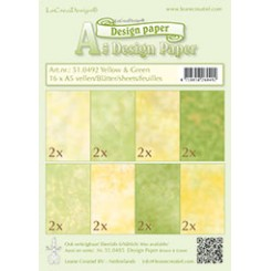 Leane designpaper A5 Green & Yellow