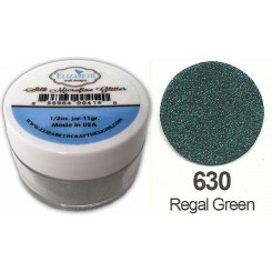 Regal Green Silk glitter