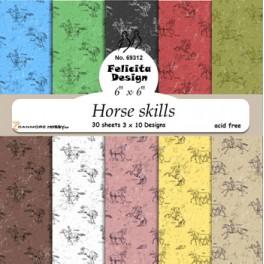 Horse Skills designer papir 30 ark